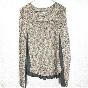 Anthropologie Moth Aspara Knit Pullover Sweater XL